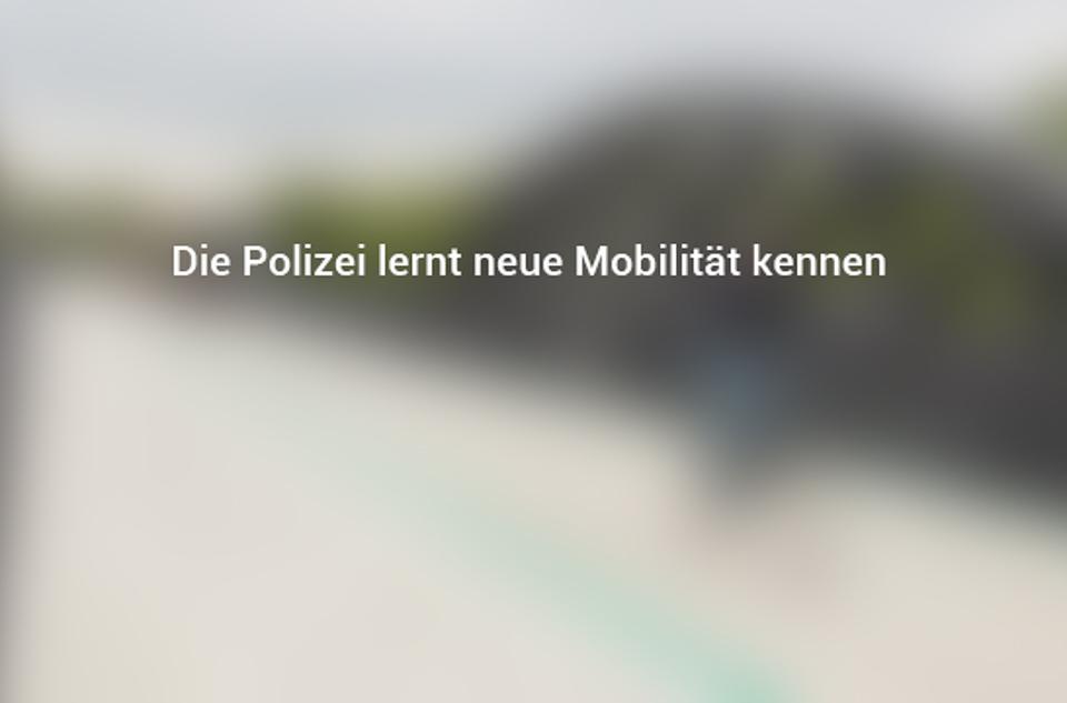 Die Polizei lernt neue Mobilität kennen mobilitaetundzukunft